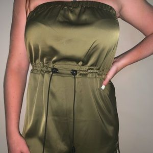 Green Silky Jump Suit